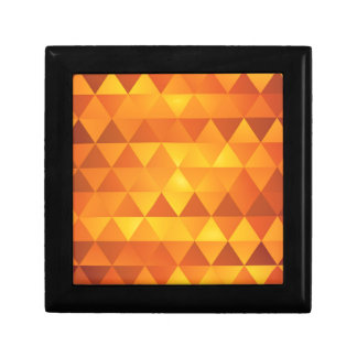 Abstract Yellow Triangles Gift Box