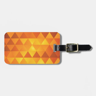 Abstract Yellow Triangles Luggage Tag