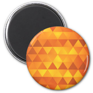 Abstract Yellow Triangles Magnet