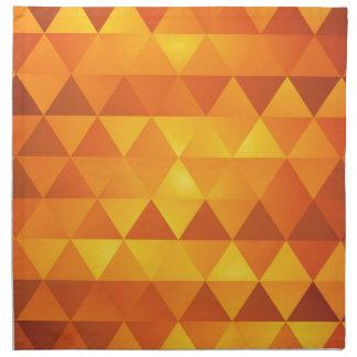Abstract Yellow Triangles Napkin