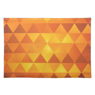 Abstract Yellow Triangles Placemat