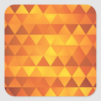 Abstract Yellow Triangles Square Sticker