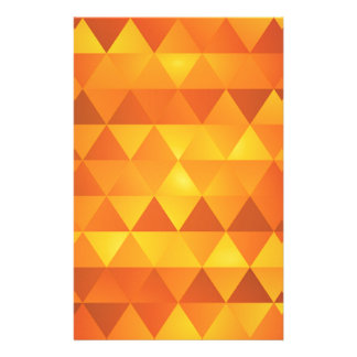 Abstract Yellow Triangles Stationery