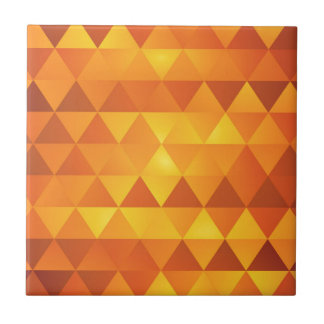 Abstract Yellow Triangles Tile