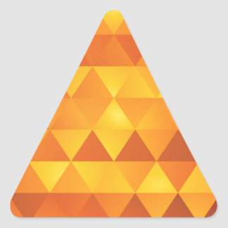 Abstract Yellow Triangles Triangle Sticker