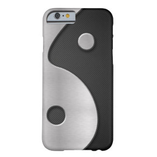 Abstract Yin Yang Carbon and Metal 4G Case Barely There iPhone 6 Case