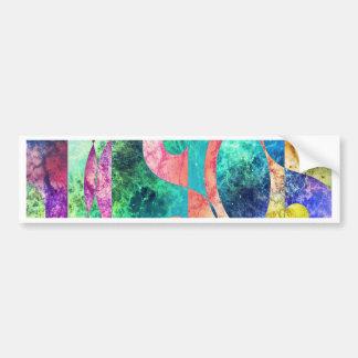 Abstract Yin Yang Nebula Bumper Sticker