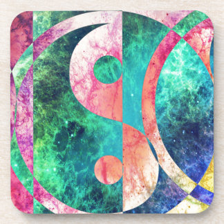 Abstract Yin Yang Nebula Coaster