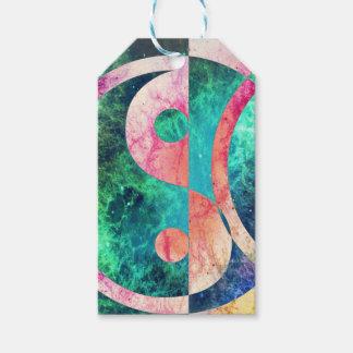 Abstract Yin Yang Nebula Gift Tags