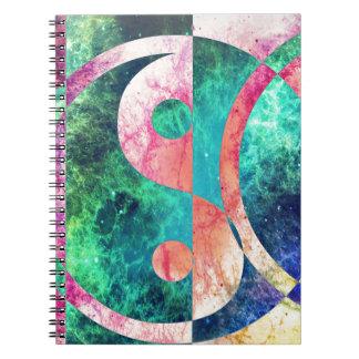 Abstract Yin Yang Nebula Notebook