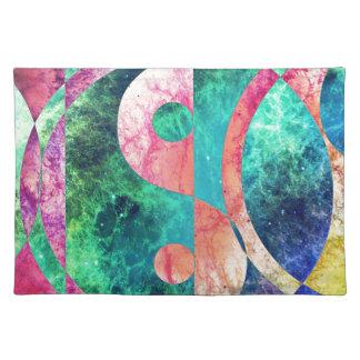 Abstract Yin Yang Nebula Placemat