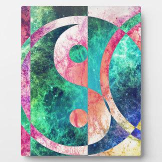 Abstract Yin Yang Nebula Plaque