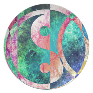 Abstract Yin Yang Nebula Plate