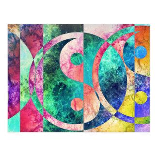 Abstract Yin Yang Nebula Postcard