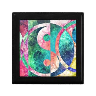 Abstract Yin Yang Nebula Small Square Gift Box