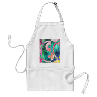 Abstract Yin Yang Nebula Standard Apron