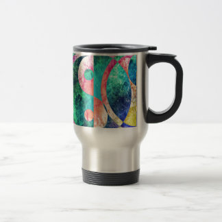 Abstract Yin Yang Nebula Travel Mug