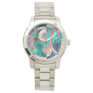 Abstract Yin Yang Nebula Wrist Watch