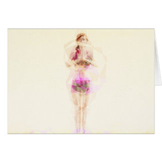 Abstract Yoga Concept Background Illustration Card