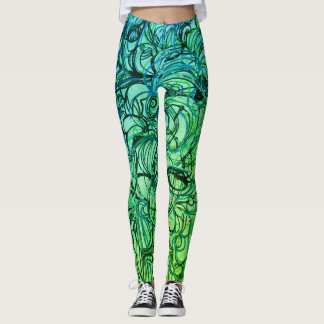 Abstract Yoga Pants