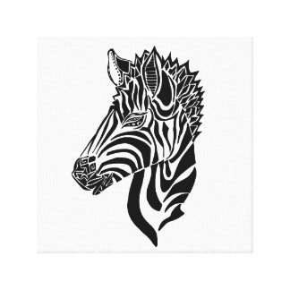 "Abstract Zebra Canvas Print (12""x12"")"