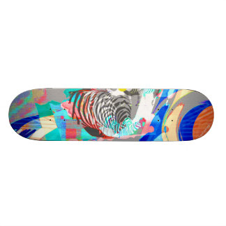 Abstract Zebra graphic-skateboard Skateboard Deck
