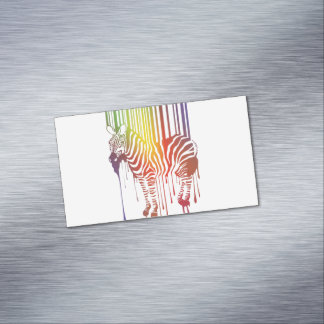 Abstract Zebra Magnetic Business Cards