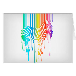 Abstract Zebra With Barcode Greeting Card