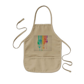 Abstract Zebra With Barcode Kids Apron
