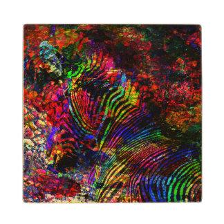 Abstract Zebra Wood Coaster