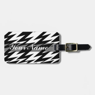 Abstract Zigzag Luggage Tag