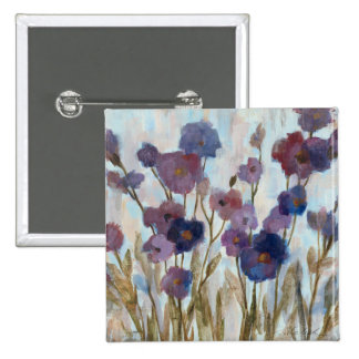 Abstracted Florals In Purple Button
