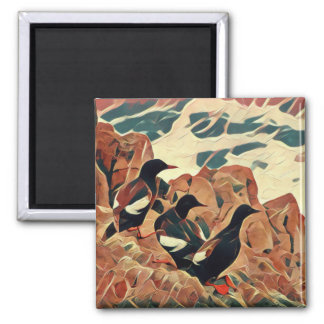Abstracted Guillemots Magnet