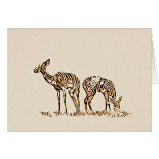 Abstracted Kudus Blank Card