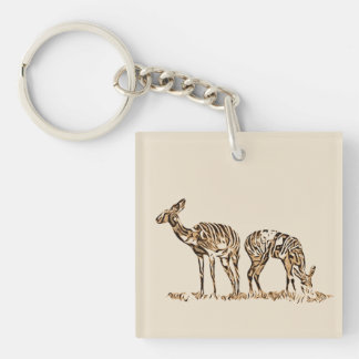 Abstracted Kudus Keychain