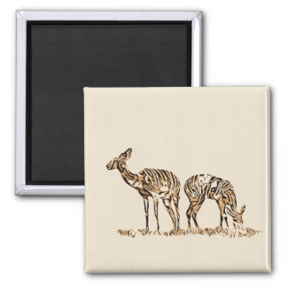 Abstracted Kudus Magnet