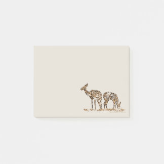 Abstracted Kudus Post-It Notes