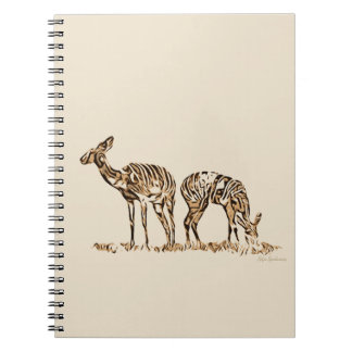 Abstracted Kudus Spiral Notebook