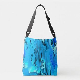 Abstracted Moods (blue) Crossbody Bag