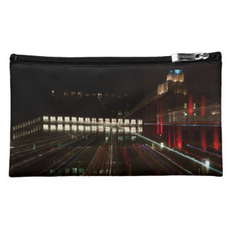 abstracted photo small pocket, building cosmetic bag
