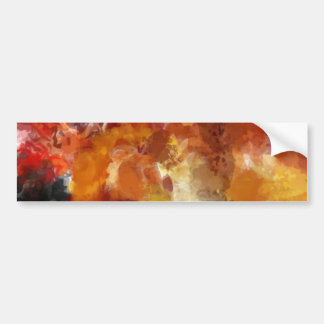 Abstracted Warm Painting Bumper Stickers