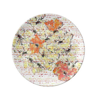 Abstracted Wildflowers Plate