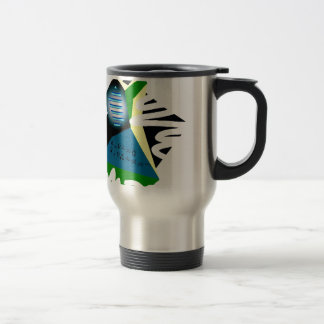 Abstraction4Feb Stainless Steel Travel Mug