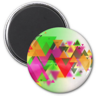 abstraction 6 cm round magnet