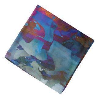 Abstraction Art Blue Cystal Grid Effect Bandana