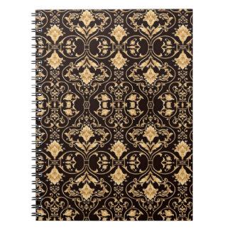 Abstraction Art Damask Pattern Wallpaper Notebook