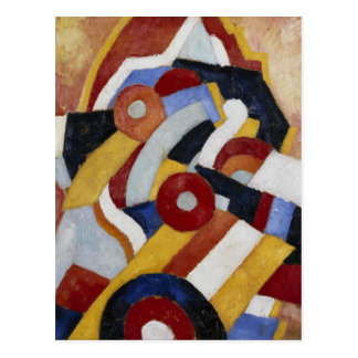 Abstraction by Marsden Hartley Postcard