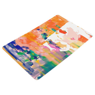 Abstraction Cow Watercolor Silhouette Floor Mat