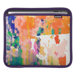 Abstraction Cow Watercolor Silhouette iPad Sleeve