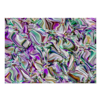 Abstraction. Evening in an olive grove. Poster